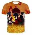 Classic Anime Naruto T-Shirt Uchiha Sasuke/Madara/Itachi 3D t shirt Men Women Summer Hipster t shirts Harajuku tee shirts tops