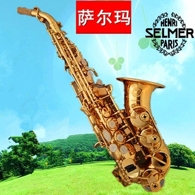 2017 Hot selling Selmer Curved Saxophone BB High Tone Bell B Curved Soprano Sax saxofone  Musical Instrument for adults Children tenor saxophone free shipping selmer instrument saxophone wire drawing bronze copper 54 professional b mouthpiece sax saxophone