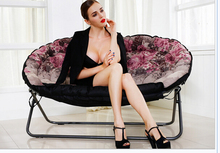 European lazy sofa. Double folding chairs. Recreational chair. Sofa