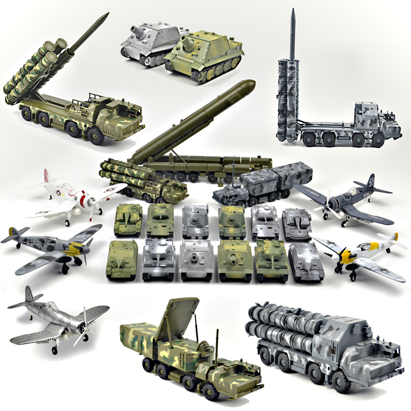 1/48 4D Assemble Military Tiger Panther Tank Assault Model Building Toys Missile Topol Aircraft Fighter Diecast War-II Plane
