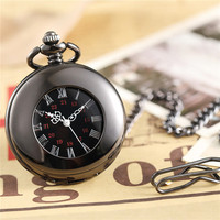 Luxury Antique Skeleton Mechanical Pocket Watch Men Steampunk Mechanical Fob Watches Clock Pendant Hand winding Relogio De Bolso