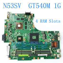 N53SV материнской GT540M 1 ГБ 4RAM слоты для ASUS n53s N53SV N53SN n53sm материнская плата для ноутбука материнских плат REV 2,2