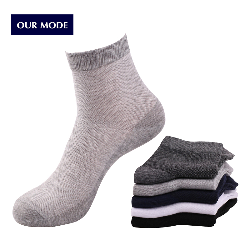 OUR MODE summer men high quality business mesh cotton socks 10pairs/lot
