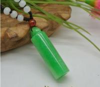 Ba טבעי אותנטי שאן אובניים ירקן ירוק שרשרת תליון תכשיטי תכשיטי גברים אופנה ונשים JADES עמוד פשוט