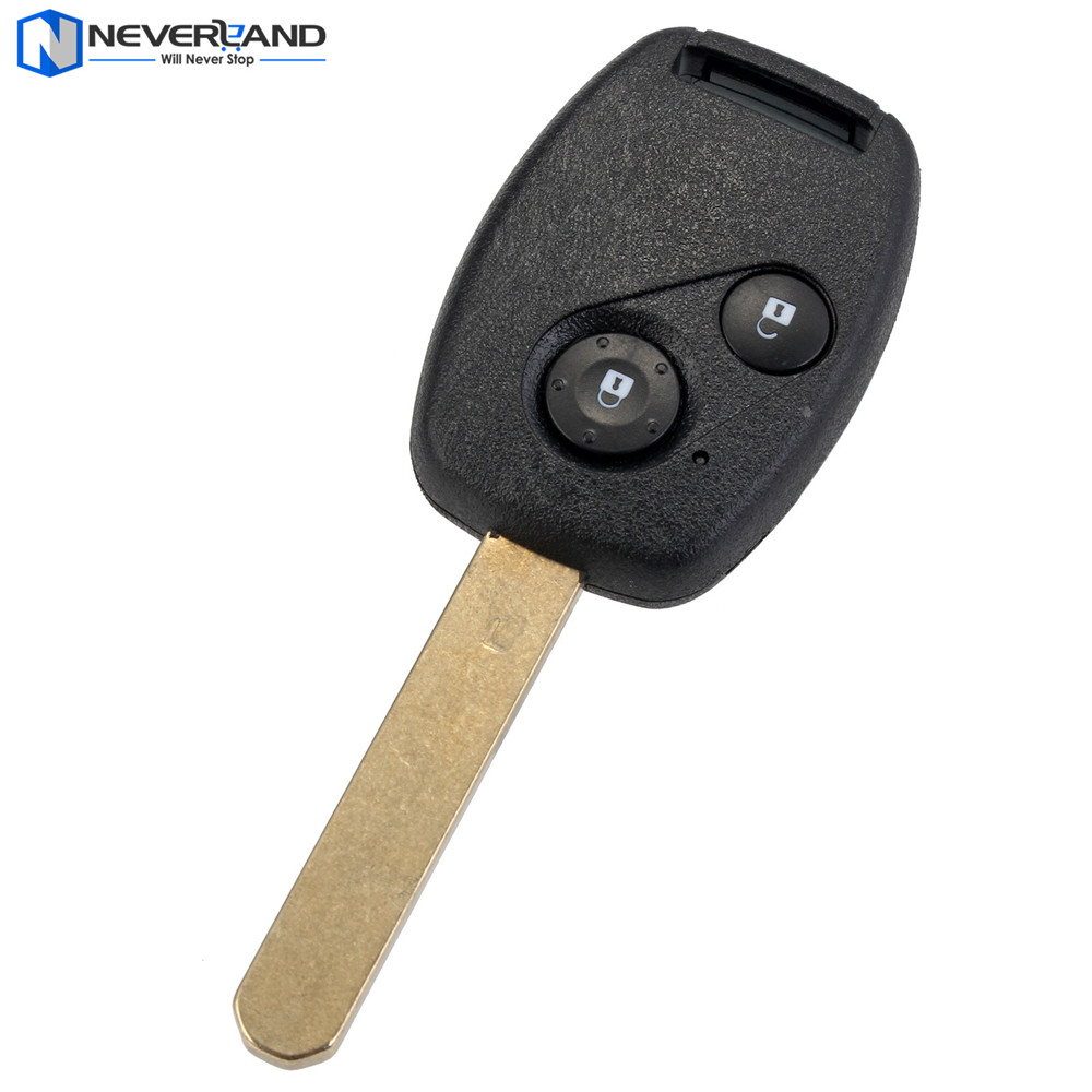 Neverland 2 Button Remote Keyless Entry Car Key Shell Fob 433Mhz ID46 for Honda Civic CRV Jazz HRV fuzik keyless go smart key keyless entry push remote button start car alarm for honda accord odyssey crv civic jazz vezel xrv
