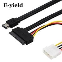 E Yield 50cm ESATAp Power ESATA Combo To SATA 22pin IDE 4pin 5V 12V For 3