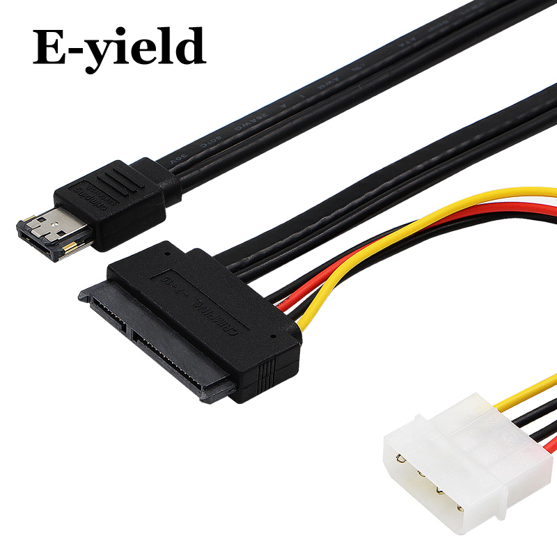 eSATA Power ESATA Combo to SATA 22pin & IDE 4pin 5V 12V for 3.5 2.5 Hard Disk Data Cable