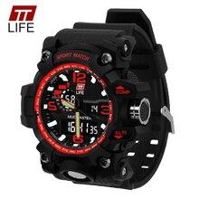 TTLIFE Men Electronic Digital Watch Fashion Sports Quartz Clock LED 50M Waterproof Relogio Feminino Electronic Wristwatch TS04