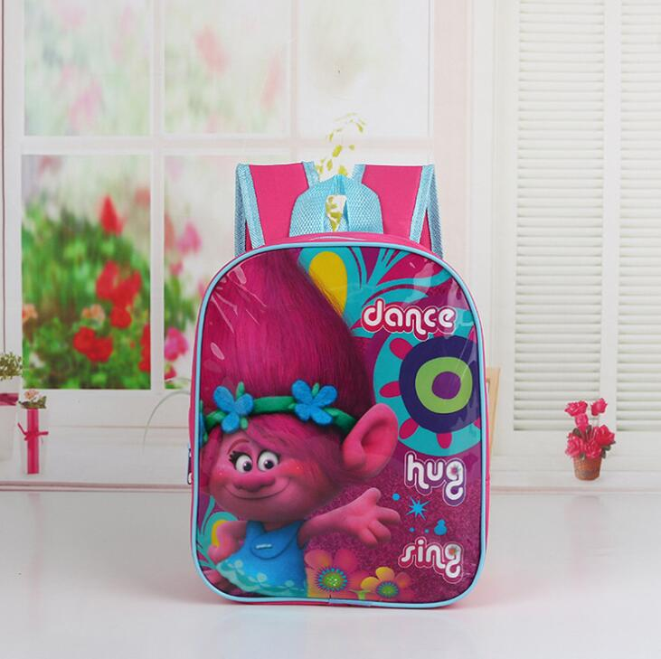 New Cartoon Mochilas Infantil Trolls Kids Schoolbag Baby Girls Lovely Kindergarten backpacks Miraculous Ladybug Children bag 2016 new fashion novelty despicable me kids cartoon backpacks children minion school bag boy girl mochilas