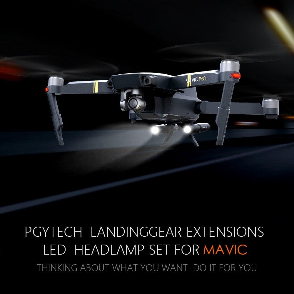Utile Pgytech Dji Mavic Pro Langing Gear Gamba Aumentano Con La Luce Del Led Di Agnello Leg Protector Mavic Extender Accessori