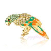 Green Bird Brooch Pins For Women Free Shipping High Quality Wholesale Brooches X262