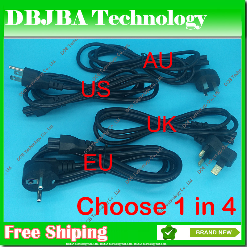 Wholesale EU AU US UK Plug 3Pin AC Power Cord Cable For Dell HP SONY Acer Lenovo IBM Samsung ASUS Fujitsu Toshiba laptop adapter eu us uk au 9v dc 1a guitar effects power supply source adapter power cord leads 3 daisy way chain cable fot fonte pedal