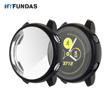 NYFundas Protector de pantalla funda para Samsung galaxy watch active 40MM carcasa Protector de parachoques cobertura completa funda de silicona accesorio