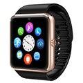 Dropshipping relojes inteligentes gt08 conectividad bluetooth para iphone android teléfono inteligente electrónica con tarjeta sim push mensajes