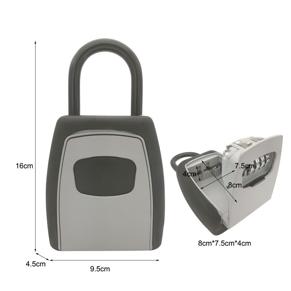 Image 4 - Key Storage Lock Box Safe Box Keys Storage Box Padlock Use Password Lock Alloy Material Keys Hook Security Organizer BoxesSafes   -
