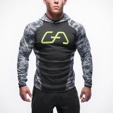 2016 Fitness Men Hoodies Brand Clothing Men Hoody Zipper Casual Sweatshirt Muscle Men's Slim Fit Hooded Jackets