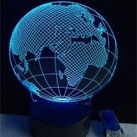 Globus Nachtlicht 3D USB LED 7 Farben Ändern Weihnachten Stimmung Lampe Touch-Taste Kinder Wohnzimmer Schlafzimmer Tisch Schreibtisch Beleuchtung