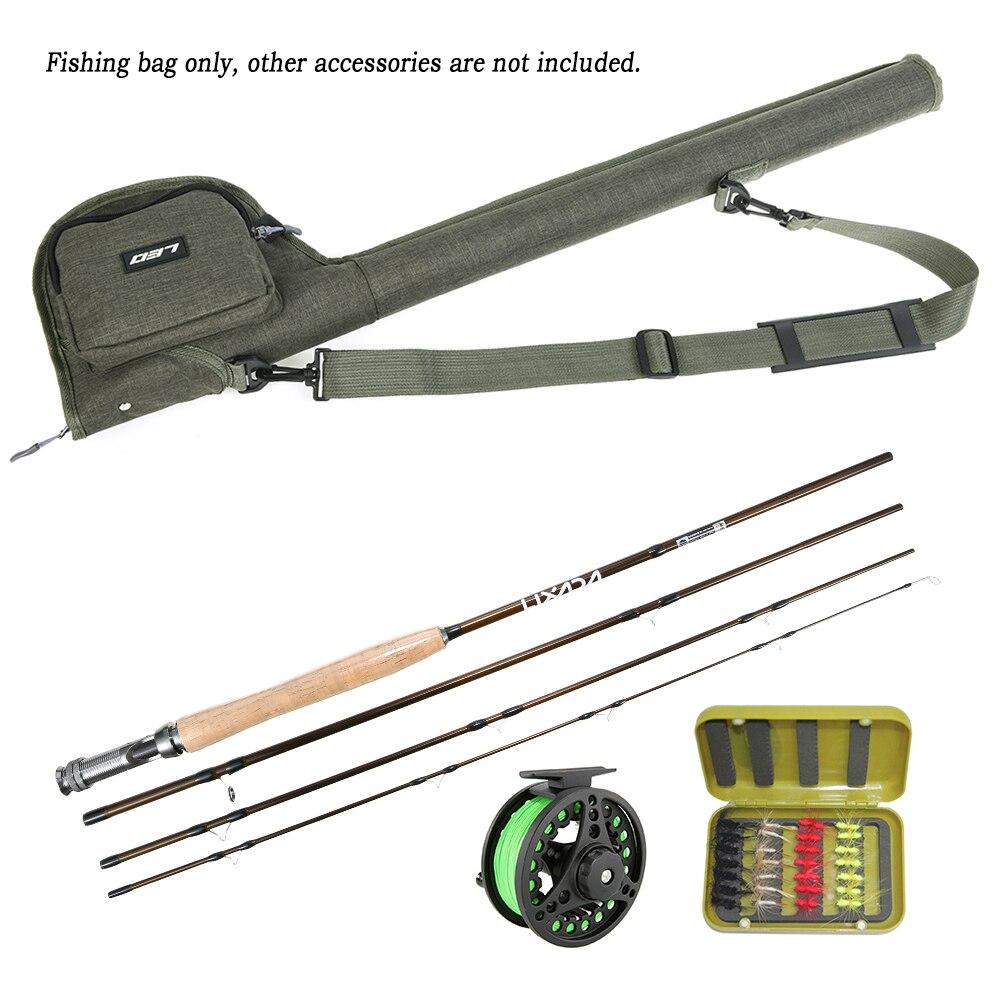 2cd2467ad LEO pesca de Rod bolsa lienzo portátil carrete caña de pescar tubos de almacenamiento  casos pesca caña de pescar bolsa en Bolsas de pesca de Deportes y ocio ...