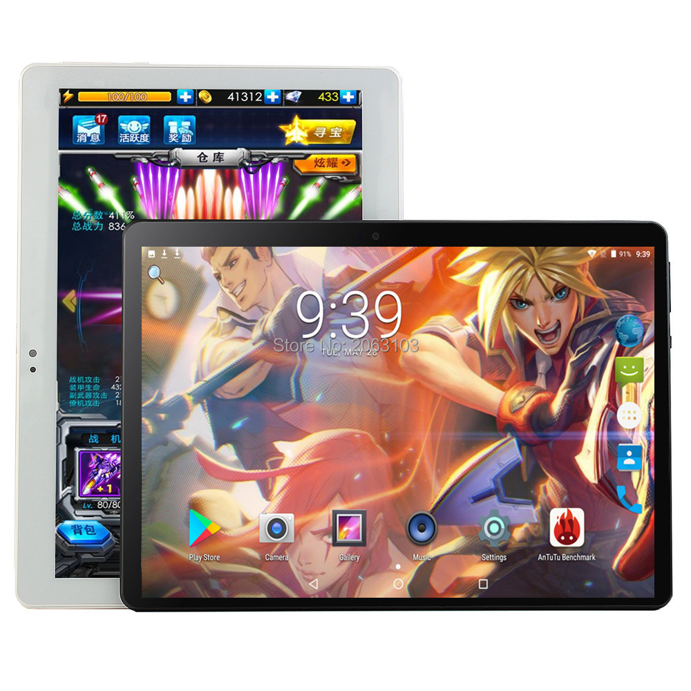 Android 9.0 OS 10 Inch Tablet Pc Octa Core 6GB RAM 64GB ROM 8 Cores 1280*800 IPS Screen GPS Tablets 10.1 Gift