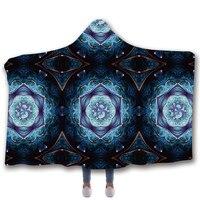 Anti Samely Scarves & Wraps Hooded Blanket 3D Print Harajuku Flower hooded poncho scarf shawl manteau femme hiver