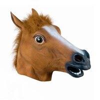 Novidade cavalo cavalo máscara cosplay masquerade máscaras de halloween Costume Teatro Prop Novidade Látex de Borracha, máscaras de animais Chapelaria