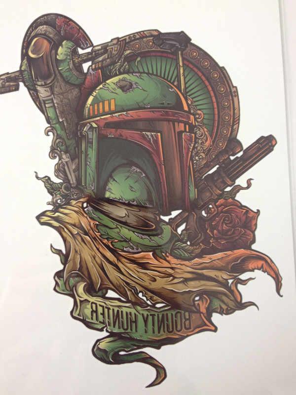 Горячая Распродажа, 21X15 см, зеленые броневые татуировки, временные наклейки для боди-арта, водонепроницаемые #125