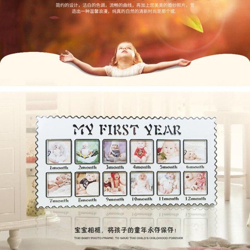 Baby Erste Jahr DIY Bilderrahmen Dekorative Säuglings 1 12 Monate ...