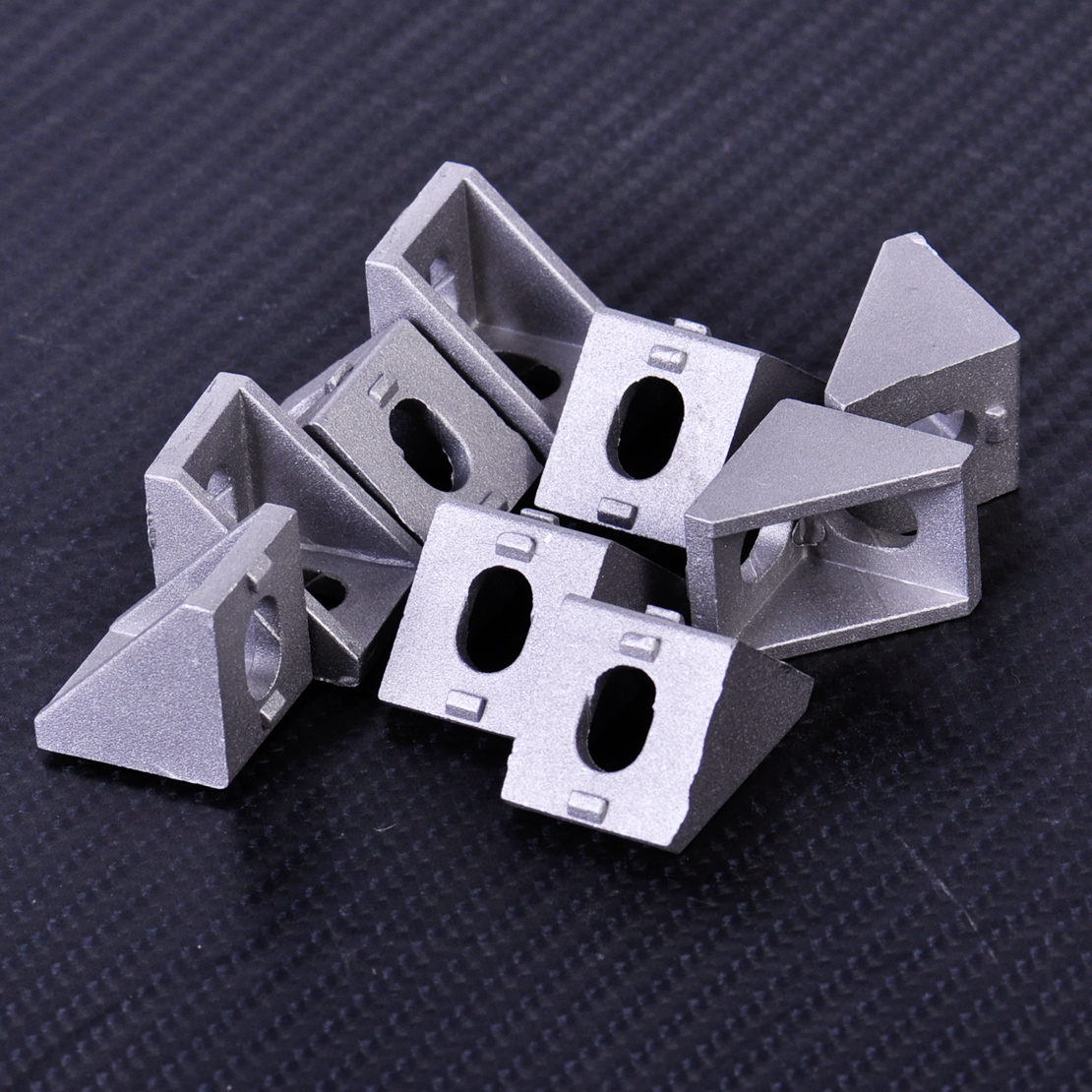 10Pcs 90 Degree Durable Grey Aluminum Corner Bracket  Solid Cast Double Side L Shape Joint Brace Right Angle