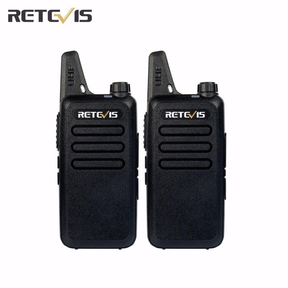 2 unids RT22 Transceptor Walkie Talkie Retevis UHF 400-480 MHz 2 W 16 CH CTCSS/DCS TOT VOX de Silenciamiento de Dos Vías de Radio Comunicador A9121A