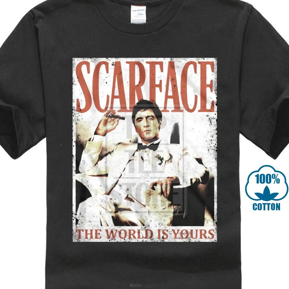 febb246c 2018 Latest Fashion Official Scarface Movie Poster Al Pacino T Shirt Sizes  Black Tony Sm 5Xl