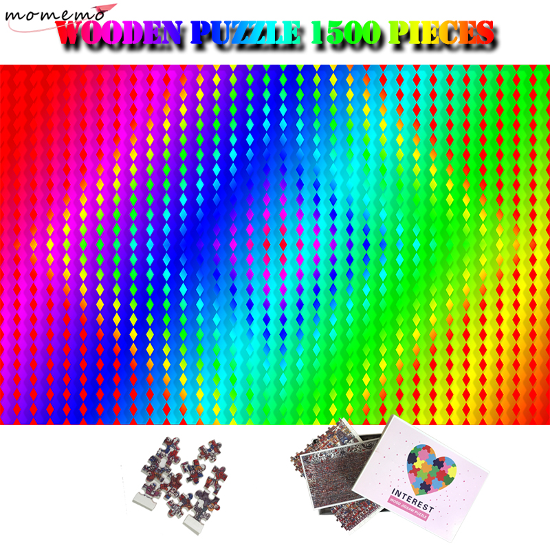 MOMEMO градиентный цвет головоломки гигантский сложный 1500 штук головоломки для взрослых высокого разрешения головоломки игрушки подарки
