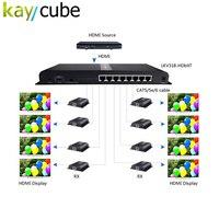 Kaycube до 120 м/394ft hdbitt 1x8 HDMI Extender Разделение тер преобразователь за cat6 с ИК удаленный Разделение один hdmi источника до 8 из