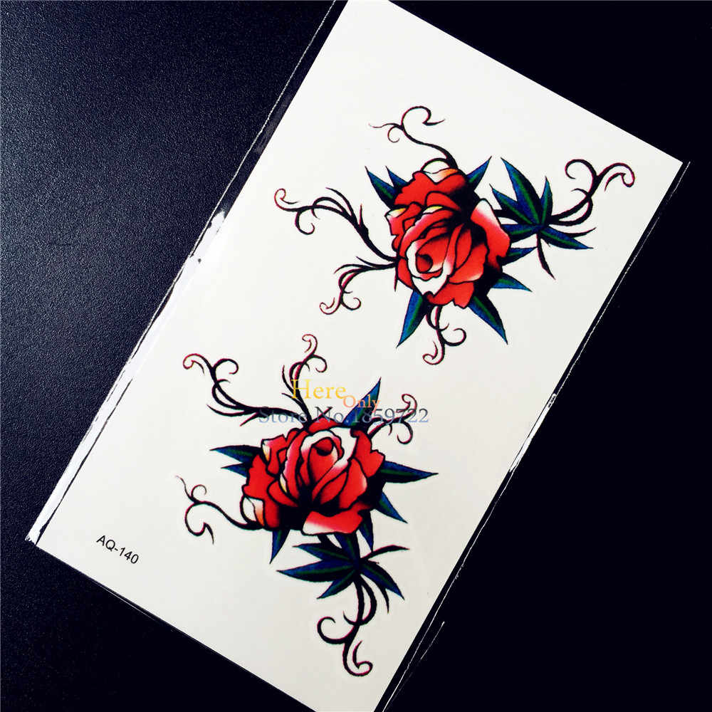 80cab2b8fa258 Detail Feedback Questions about Red Sexy Henna Flower Roses Designs ...