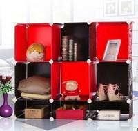 9 Cell Kid's Book shelf Cabinets DIY magic piece combination Cabinet Home Creative Furniture shelf PO009