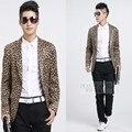 Mens Leopard Print Blazer Blaser Masculino Traje Homme Veste Blazer Hombres Blazer Masculino Slim Fit Floral Blazer Hombres