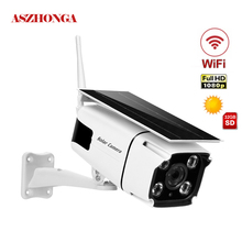 1080P Solar IP Camera 2MP Wireless Wi-fi Security Surveillance Waterproof Outdoor Camera IR Night Vision Solar Power Bullet Cam 2mp 1080p solar power wireless wifi ip camera with hotspot ap connection