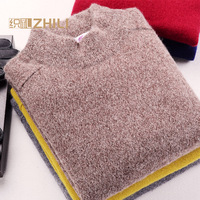 Men 100% Cashmere Sweater 2016 Men's Casual Winter Knit Warm Men Half Turtleneck Pullover Coat Outerwear Mens Sweaters And Pullo