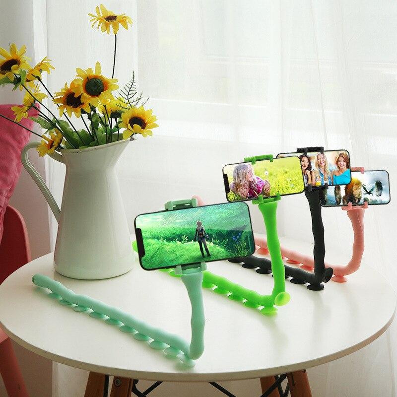 360 Rotating Flexible Long Arms Mobile Phone Holder Desktop Bed Lazy Bracket Mobile Stand Car Phone Holder and Car Accessories|Phone Holders & Stands| |  - title=