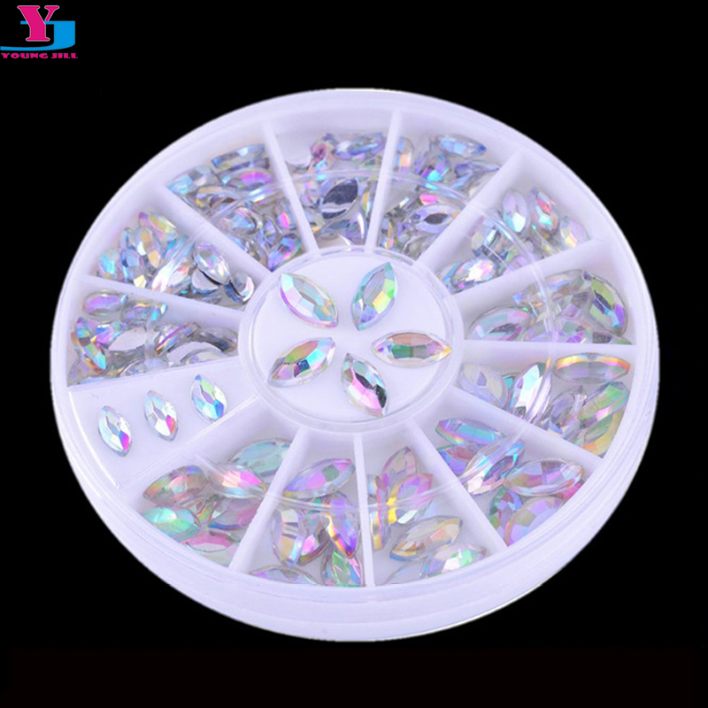 Hot 3D Boat Stone Nail Art Decorations Bling Charm Rhinestone For Nail Pedras Para Unha Unghie DIY Acrylic Tool Ongle With Wheel diy 20pcs bag nail art decoration 3d gel polish beautifully oval stone charm diamond acrylic resin nail art accessorietips