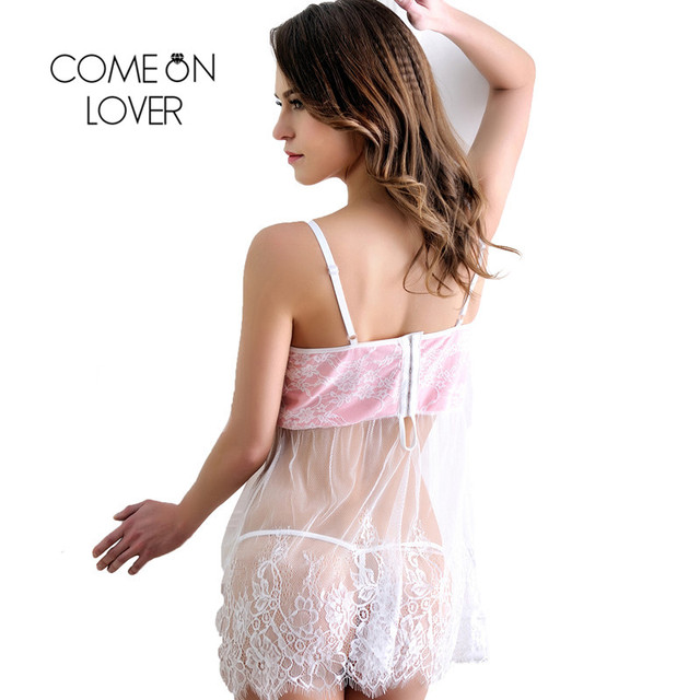 Comeonlover Intimo Donna Sexy Hot With Sheer Bodice And G-string Porno Sexy Lingerie Plus Size Baby doll Sexy Lingerie RI80046 4