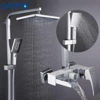 GAPPO Shower System brass bathroom shower set wall mounted massage shower head bath mixer bathroom shower faucet taps