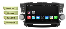 8-Core 10.1 inch Android 6.0 Car Dvd Gps Navi Audio for Toyota Highlander 2011-2014 HD1024*600 1080P 2GB 32GB nand Wifi SWC