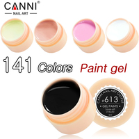 CANNI 5ml Gel Nail Polish Varnish Professional Soak Off Solid UV Gel Polish Nail Painting Gel Ink Lacquer