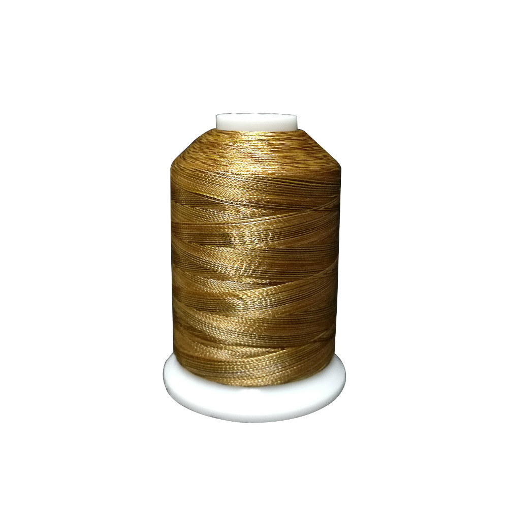 New Arrival Brown And Gold Variegated Colors Polyester Embroidery Machine Thread 1000M/Spool