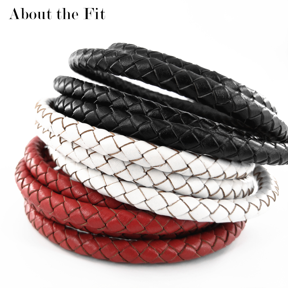 About The Fit 7mm 10Meters Genuine Braided Leather Cord Real Leather Crafts Beading Accessories Lacing Jewelry Making Woven Rope