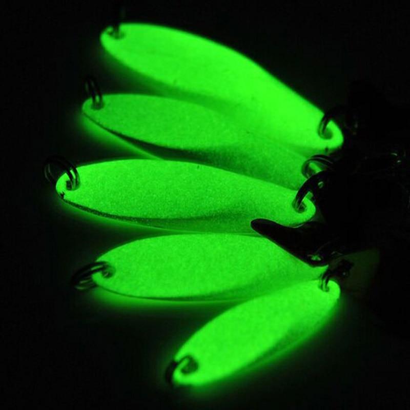 Night Fishing Bait Luminous Fishing Lures Artificial Metal Lure Treble Hook Jig Wobbler Bait Fishing Tackle 7g/10g/14g