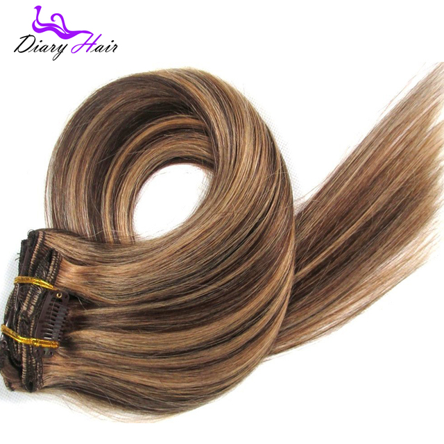6a Grade Brazilian Remy Clip In Human Hair Extensions 427 Cheap