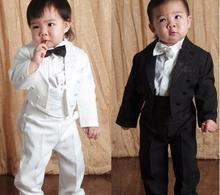 High Quality Baby boy tuxedo suit for wedding child blazer clothing set 5pcs coat vest shirt