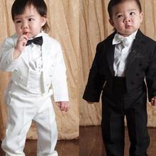 1d12633e2 Traje de esmoquin de alta calidad para boda niño blazer conjunto de ropa 5  unids  abrigo + chaleco + camisa + corbata + Pantalon.
