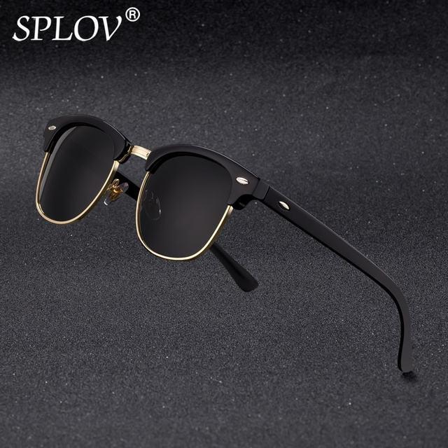 dfbaaf70803 2018 New Fashion Semi Rimless Polarized Sunglasses Men Women Brand Designer  Half Frame Sun Glasses Classic Oculos De Sol UV400